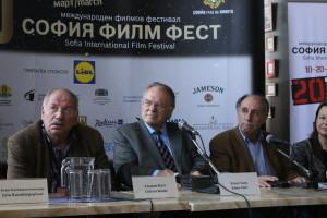 Отляво надясно: Гидеон Кутс, Клаус Едер, Божидар Манов