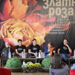 Част от екипа на филма на пресконференцията след прожекцията на филма на ,,Златна роза'' 2017