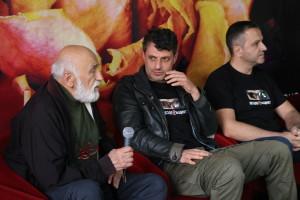 Борис Луканов, Велислав Павлов и Илиян Джевелеков на пресконференцията след прожекцията на филма на ,,Златна роза'' 2017