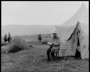 Кадър от българския документален филм ,,Балканската война''